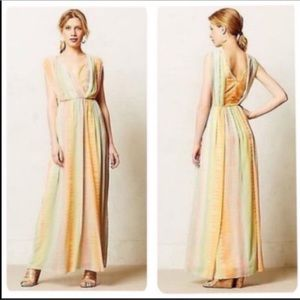 Anthropologie Lil Solen Pastel Tie Dye Maxi Dress